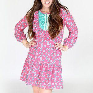 👗 Jelly the Pug Mommy & Me Rosetta pink dot dress